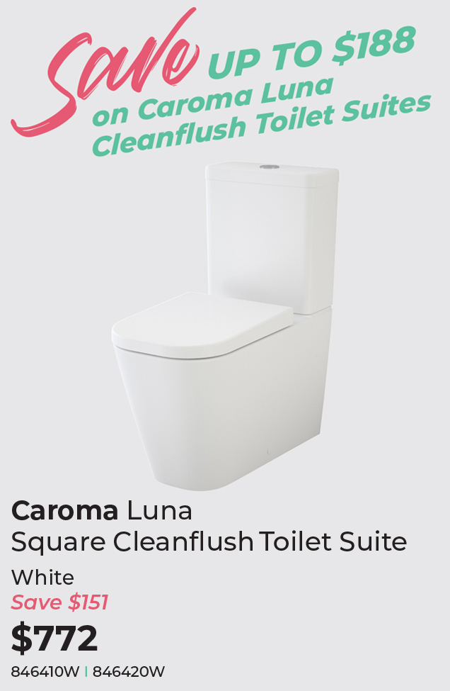 hotDeals2018_Caroma Luna Square Cleanflush Back-To-Wall Toilet Suite