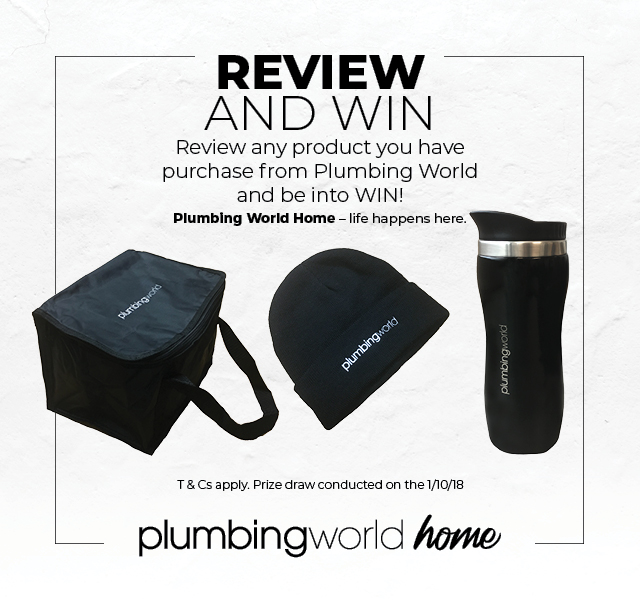 Review any product you have purchase from Plumbing World and be into WIN