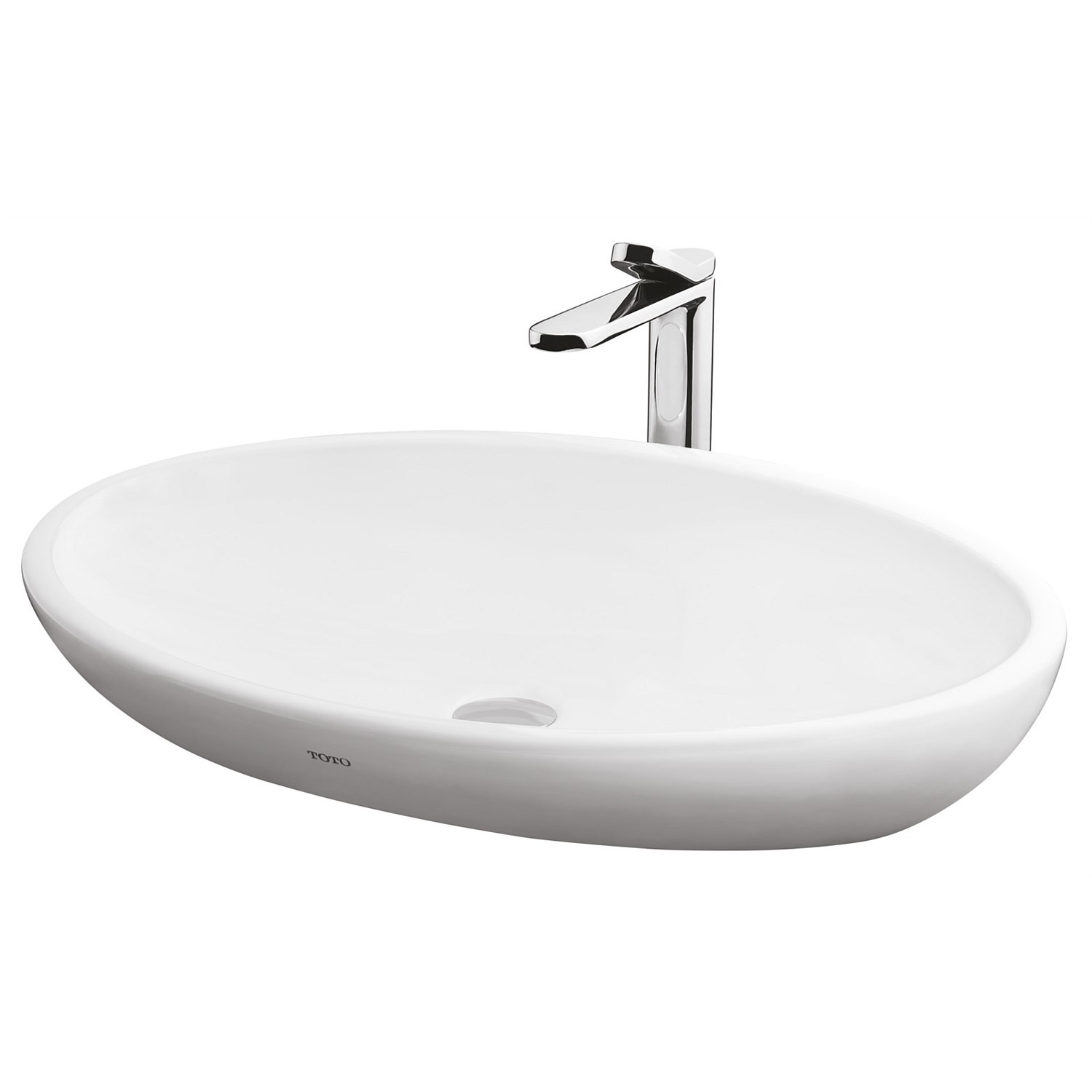 Basins | Plumbing World - Toto Le Muse 650mm Oval Counter Top Basin