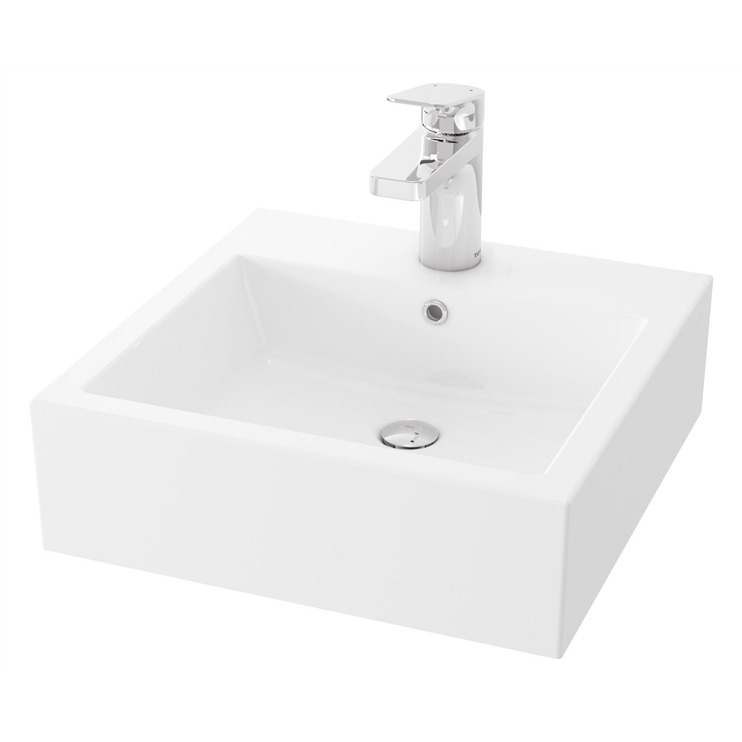 Basins | Plumbing World - Toto Valdes 505mm Square Counter Top Basin