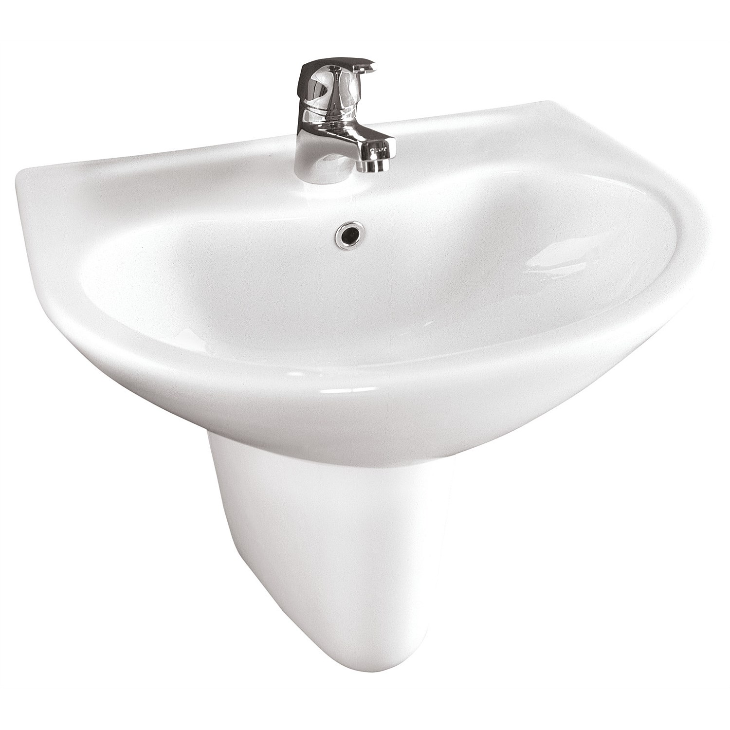 Toto - Toto Sintra 500mm Wall Basin and Semi-Pedestal