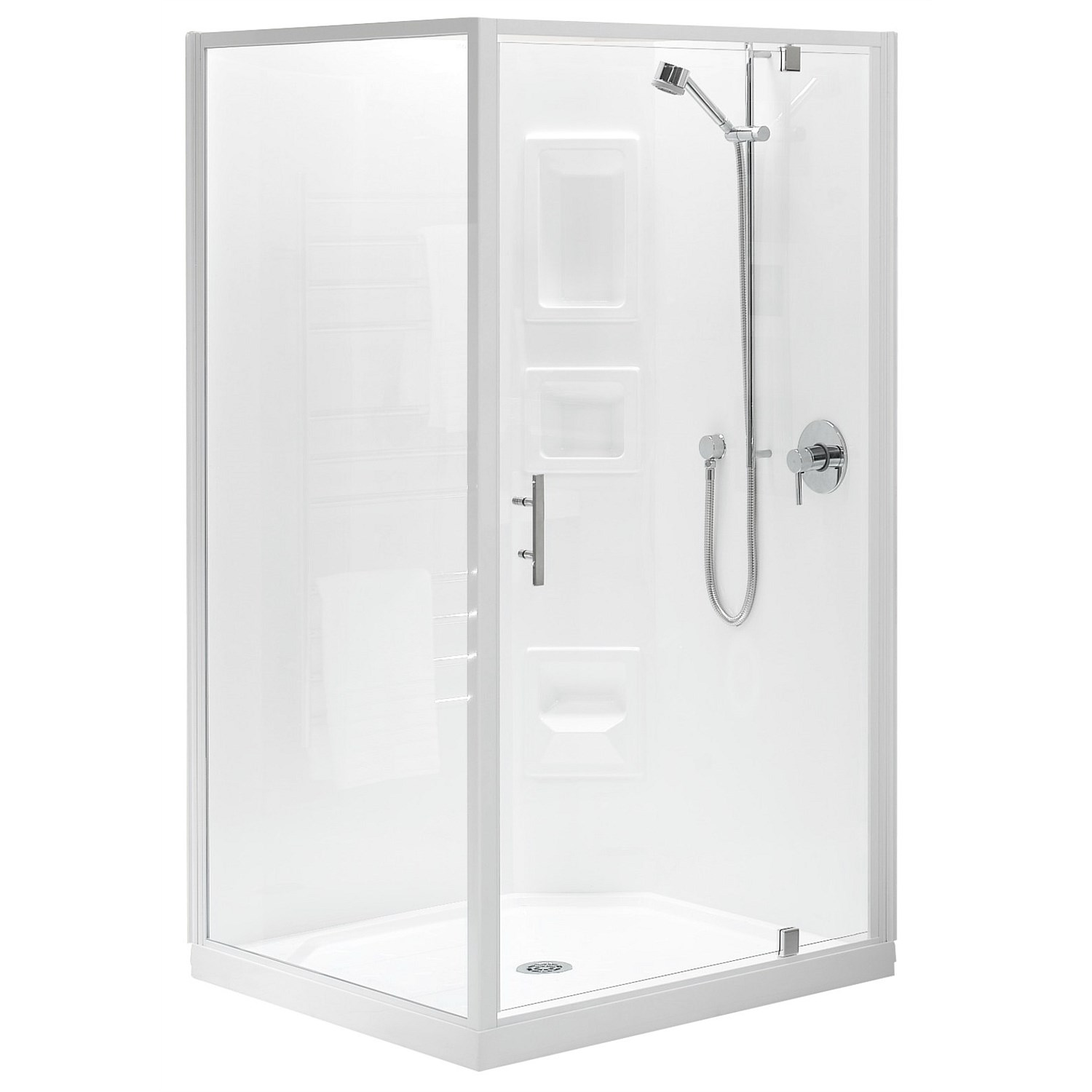 Showers - Clearlite Induro 900mm 2 Sided Shower Enclosure