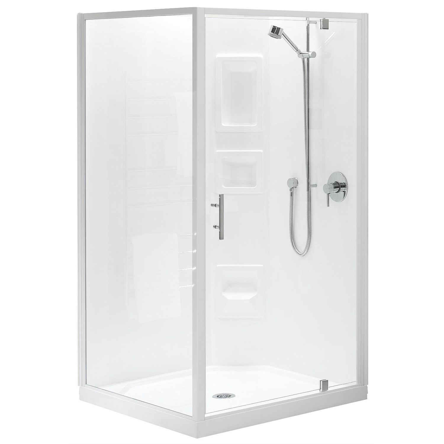 Showers - Clearlite Induro 1000mm 2 Sided Square Shower Enclosure