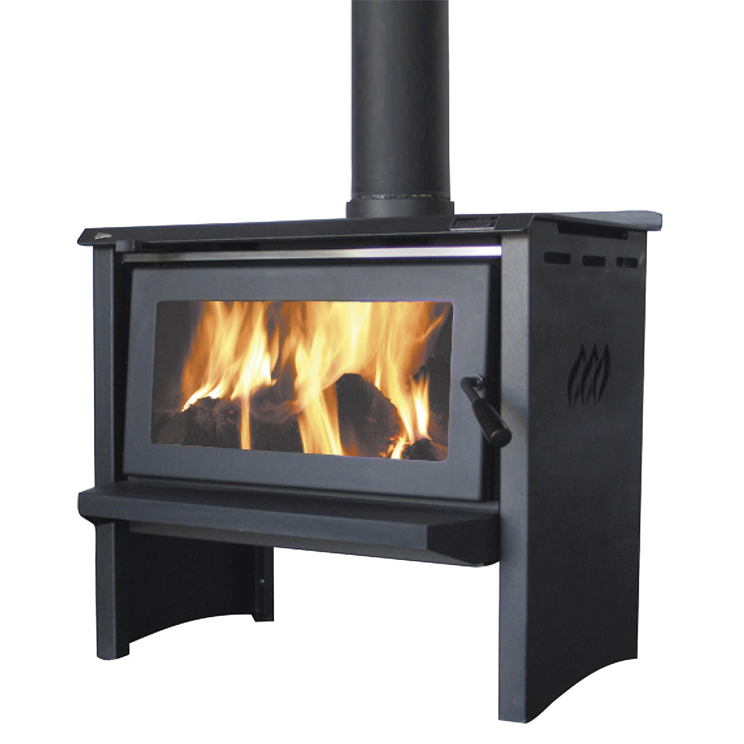 Heating Products Jayline Ss200l Free Standing Wood Fire Plumbing World