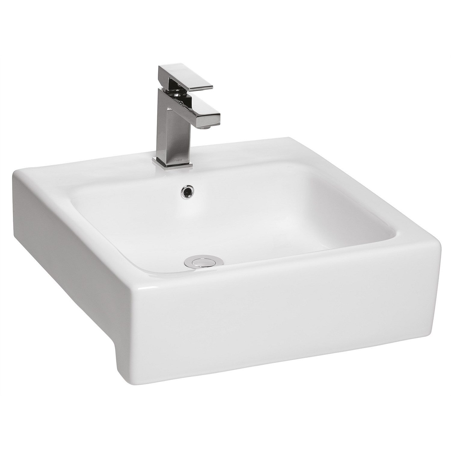 Semi Recessed Toto Valdes Square Semi Recessed Basin