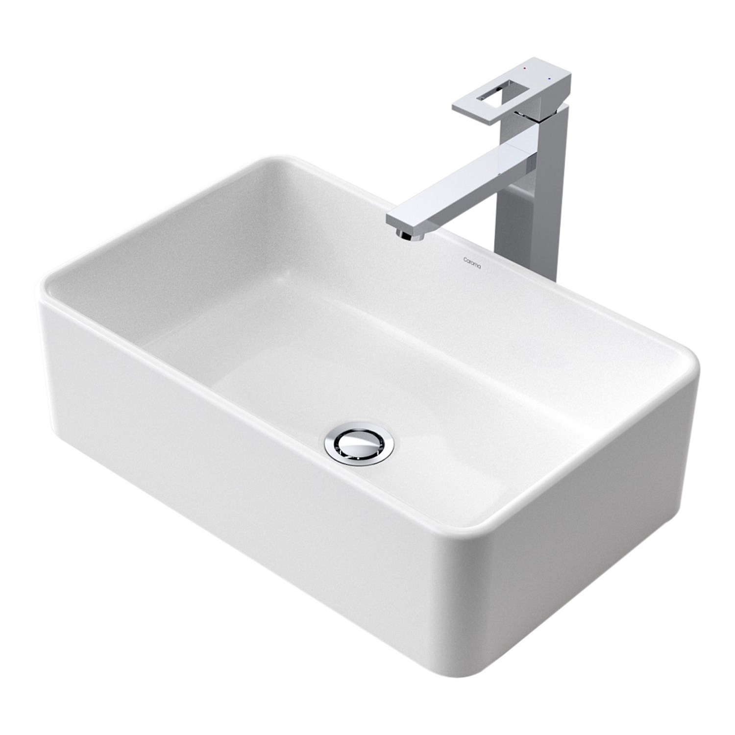 Basins Plumbing World Caroma Cube 500mm Above Counter Basin