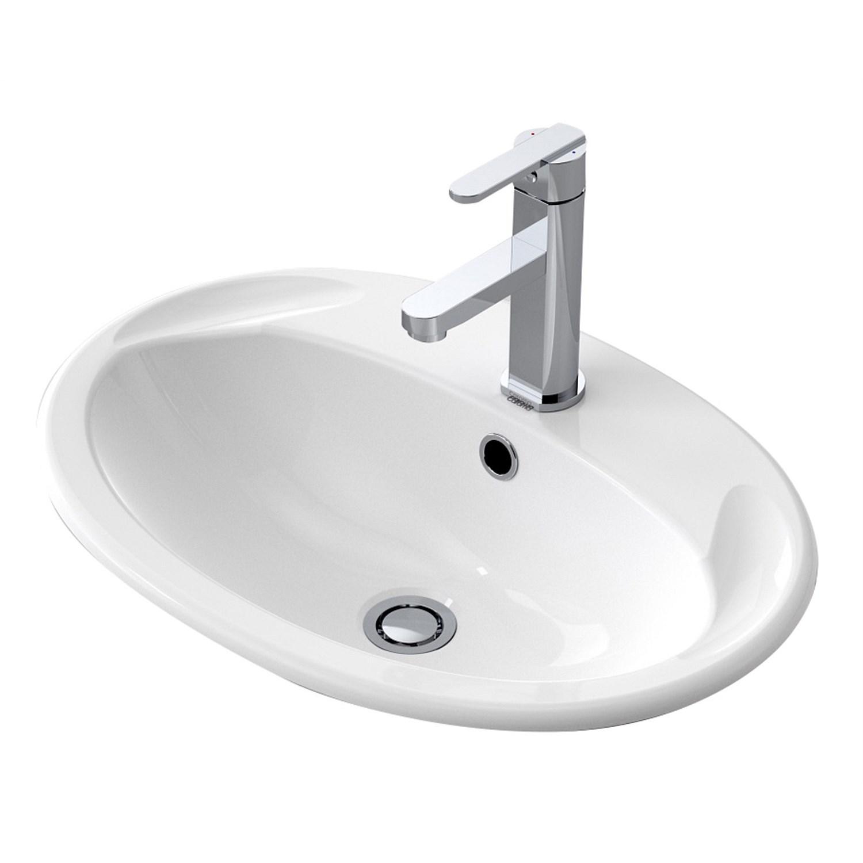Basins Plumbing World Caroma Centro 565mm Vanity Basin