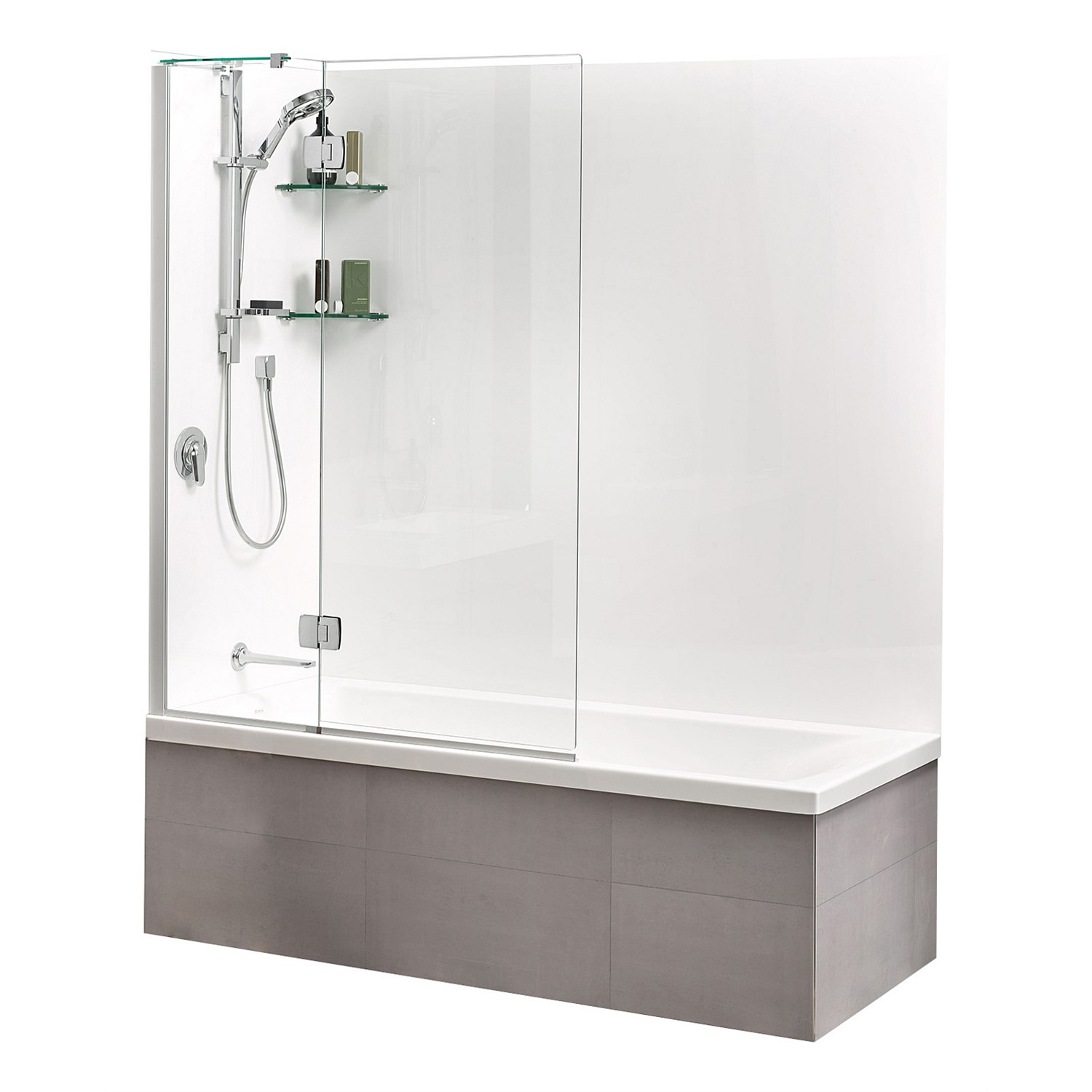 shower screens and doors athena allora 1100mm bath panel. Black Bedroom Furniture Sets. Home Design Ideas