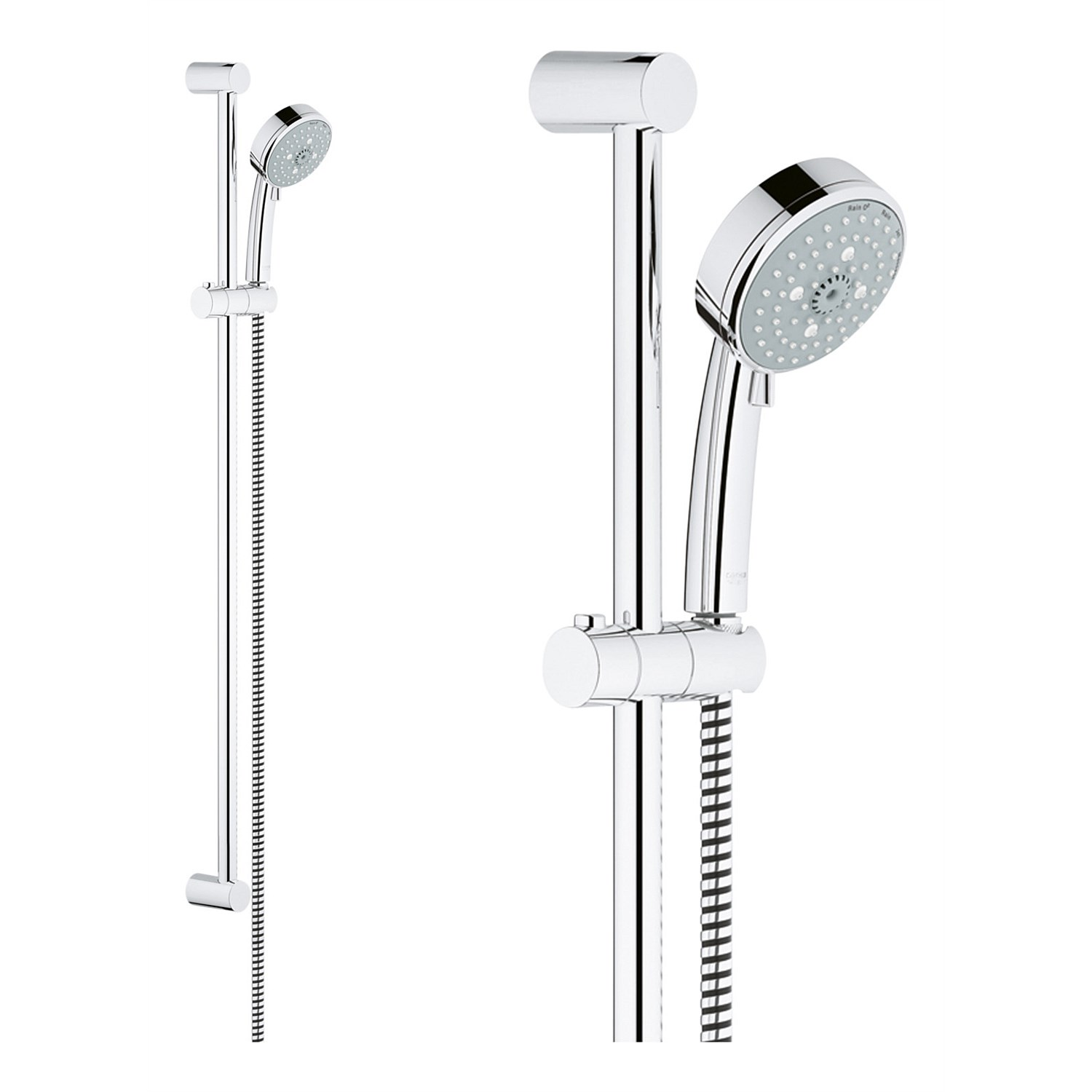 Slide Showers - Grohe Tempesta Cosmo 100 Slide Shower With 4 ...