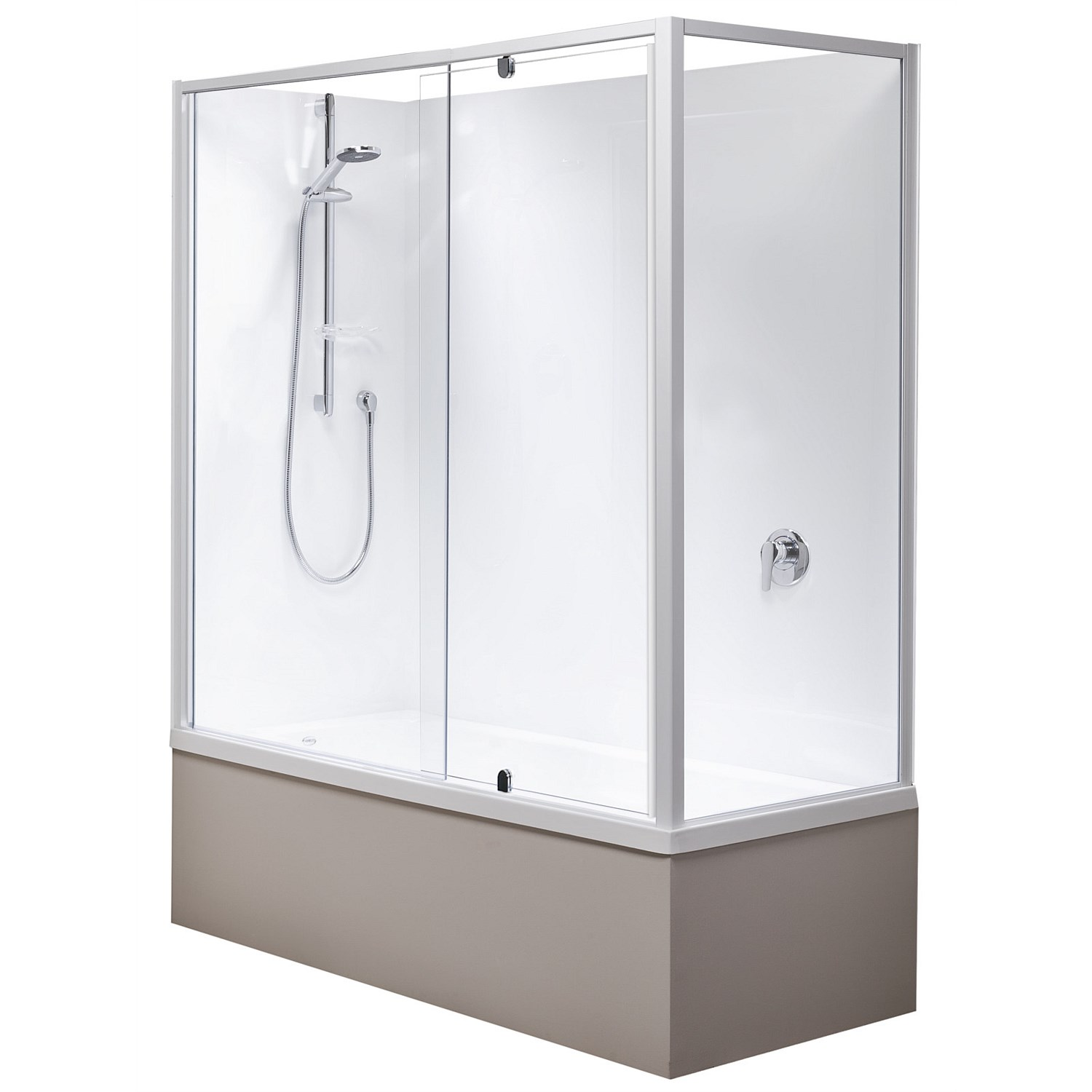 Clearlite Matisse 1655mm 2 Sided Over Bath Shower with Complete Door Set