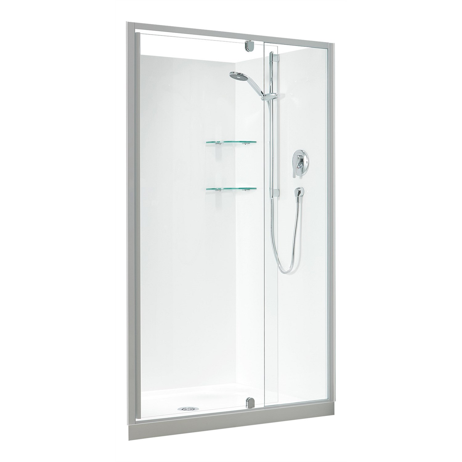 Showers Plumbing World Clearlite Sierra 1200mm 3 Sided Rectangle