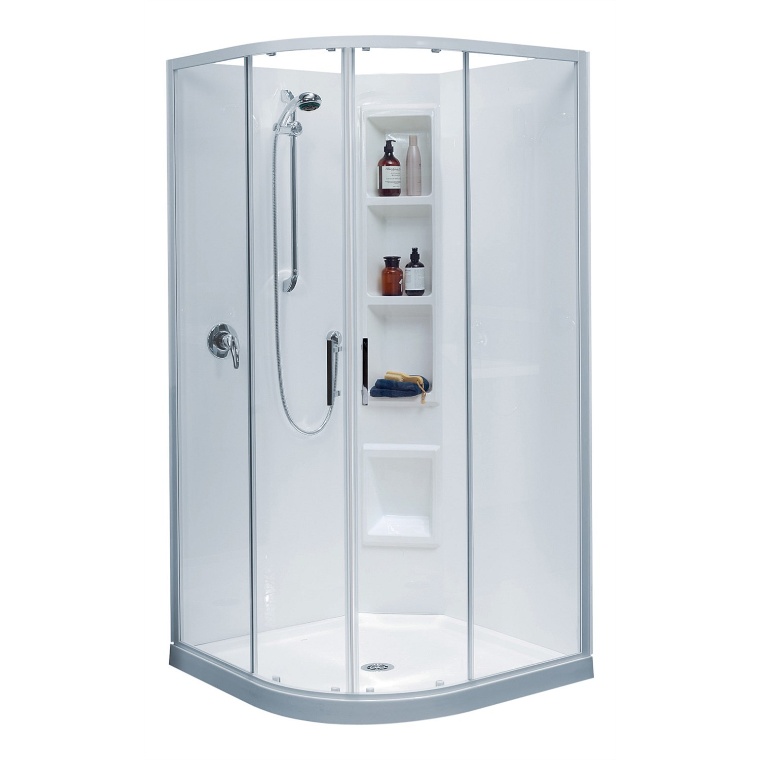 Acrylic - Clearlite Cezanne 1000mm Round Shower Enclosure