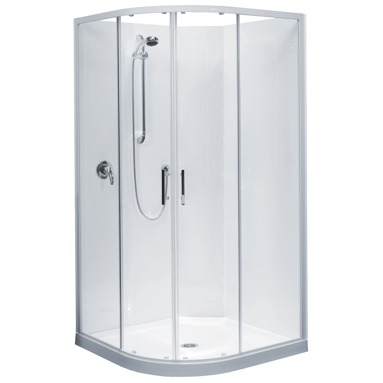 Acrylic Clearlite Cezanne 1000mm Round Shower Enclosure
