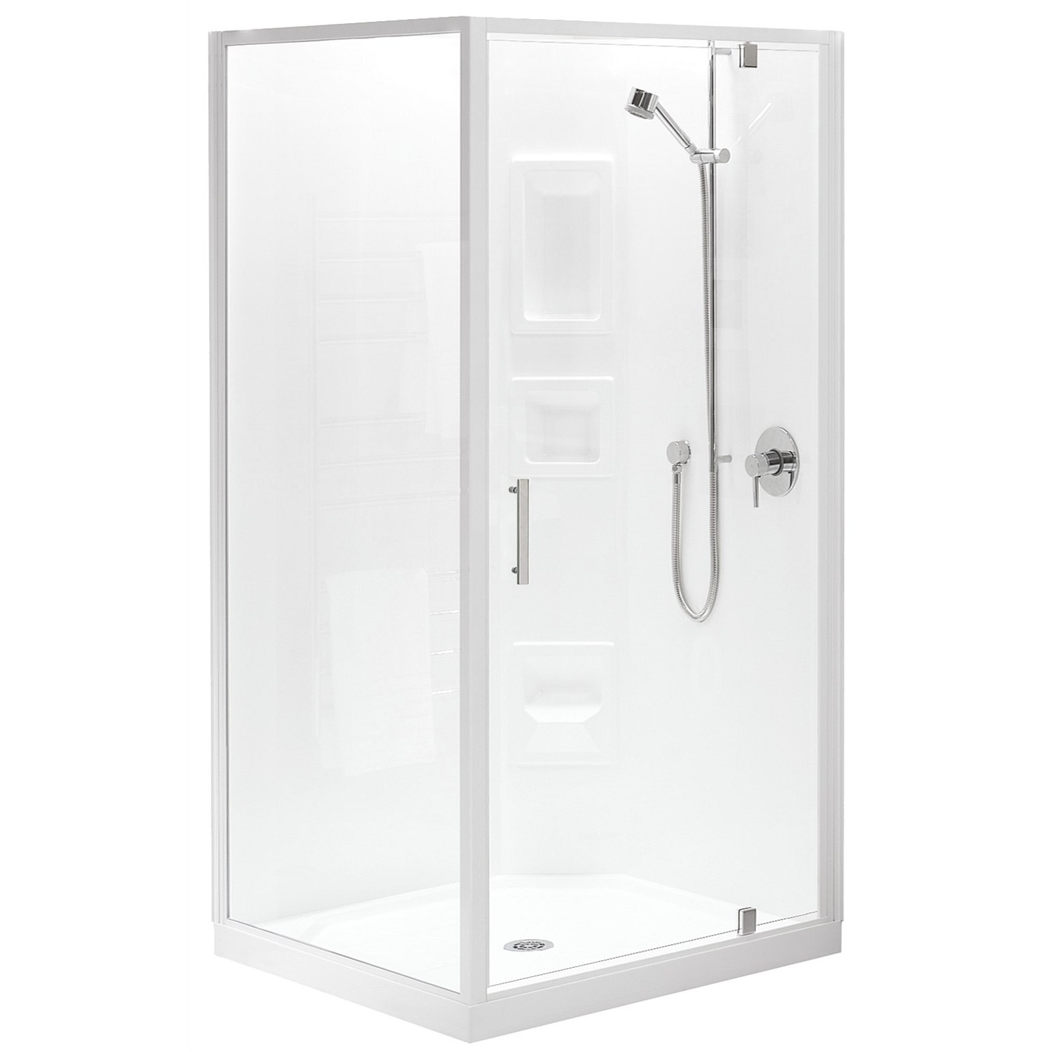 Acrylic Clearlite Induro Tall 1000mm 2 Sided Shower Enclosure