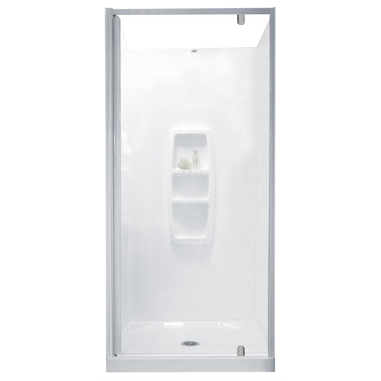 Showers Plumbing World Clearlite Sierra 900mm 3 Sided Shower