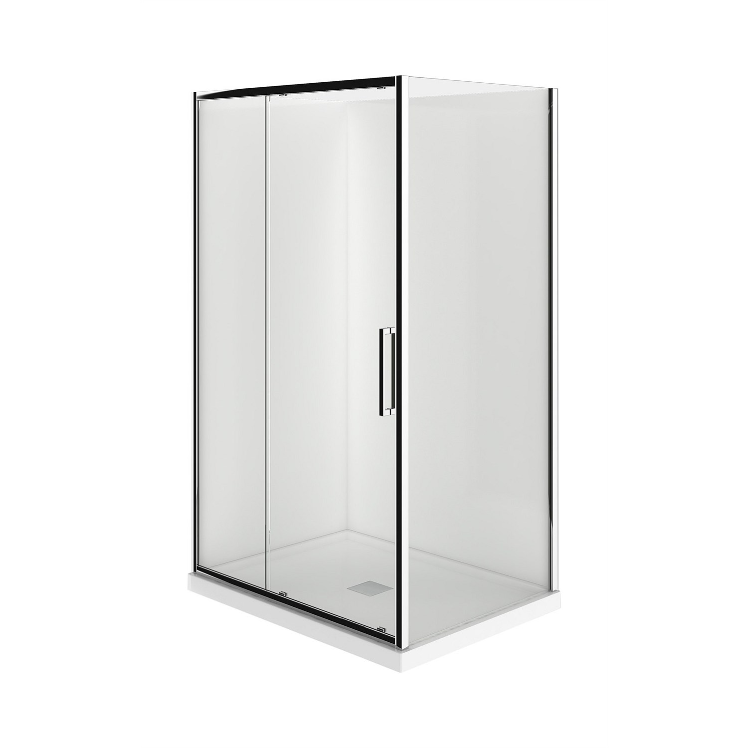 LeVivi - LeVivi 1200mm 2 sided LH Moulded Shower Enclosure