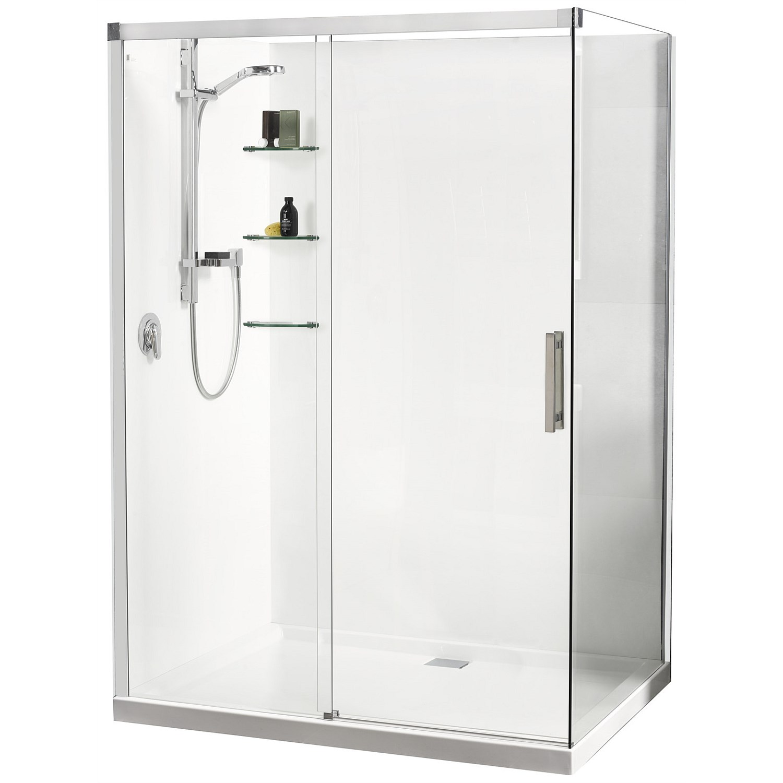 Acrylic Athena Motio 1600mm Sliding Door Shower