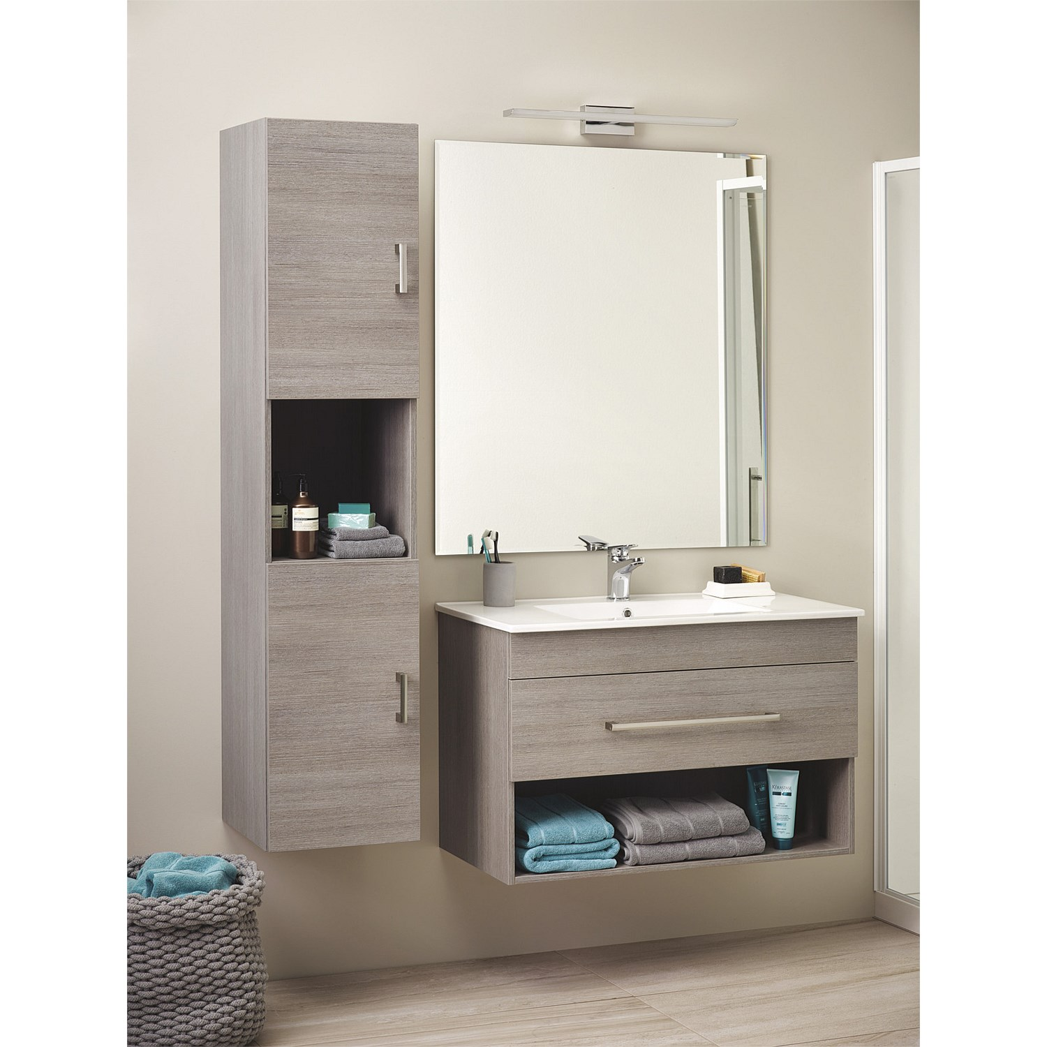 Clearlite Cashmere Classic 900mm Wall Hung Vanity