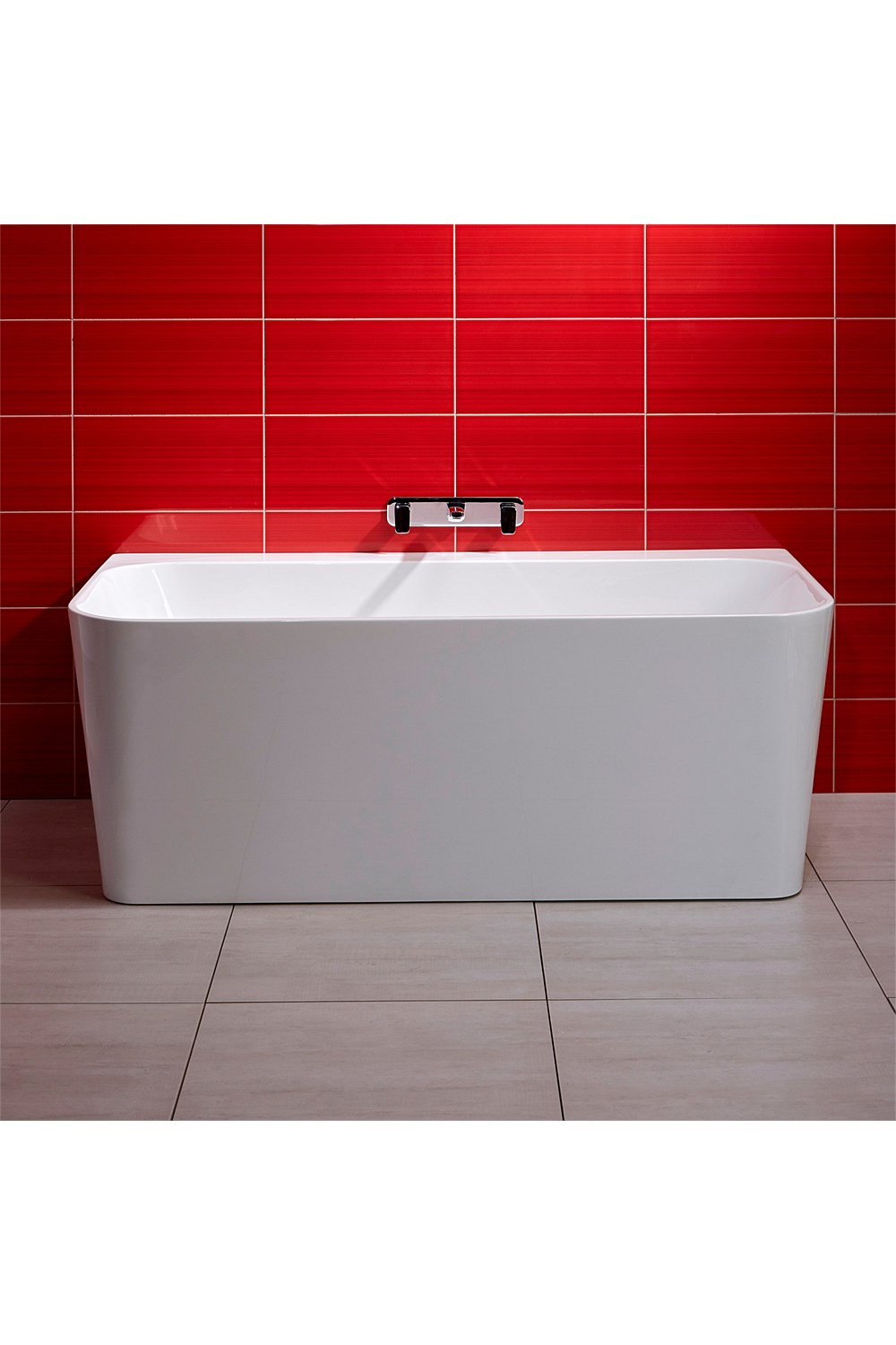 Freestanding Athena Contro 1600mm Back To Wall Bath
