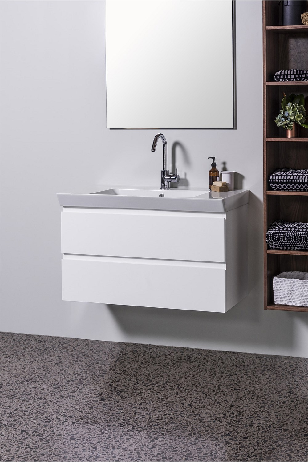 Vanities And Storage Michel Cesar Edge 910mm Wall Hung