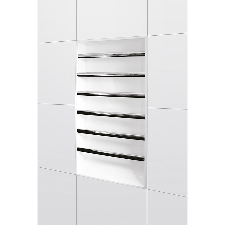 Atlantis Easy Niche 600mm Recessed Towel Warmer