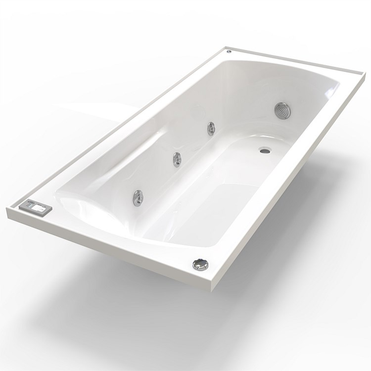 Clearlite Matisse 1655mm Spa Bath