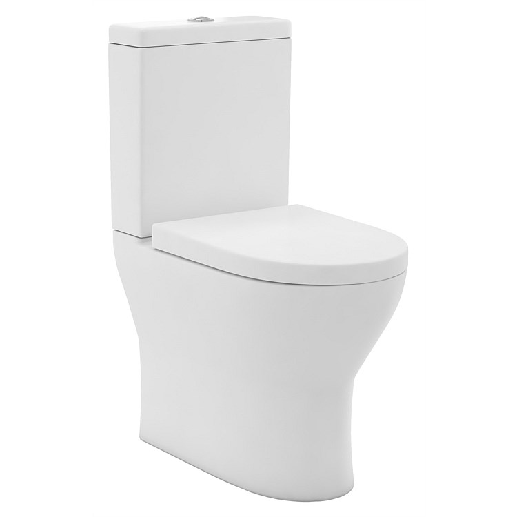 LeVivi York Comfort Rimless Back-To-Wall Toilet Suite