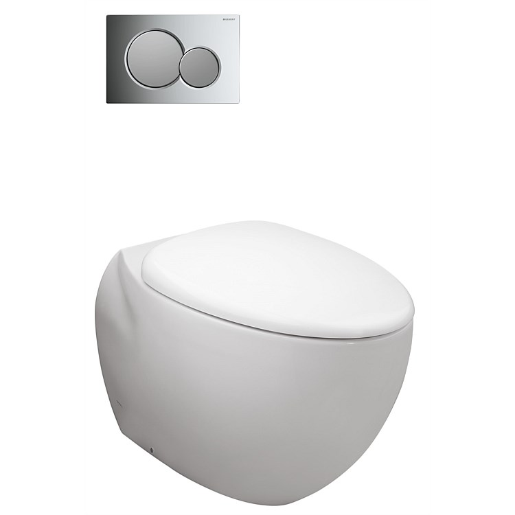 Toto Le Muse Wall-Faced P Trap Toilet Suite