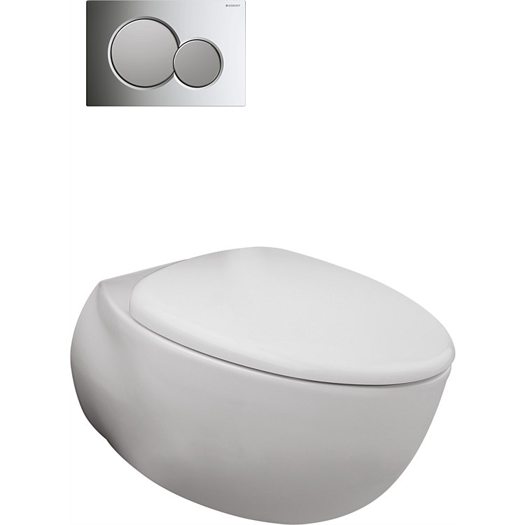 Toto Le Muse Wall-Hung P-Trap Toilet Suite