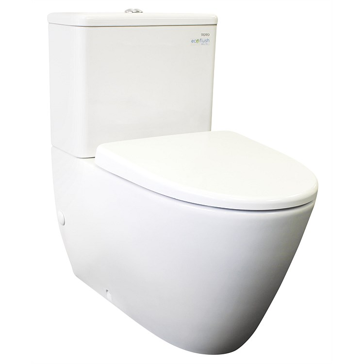 Toto Alicante Square Tank Back-To-Wall Toilet Suite