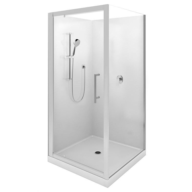 Showers | Plumbing World - LeVivi Cabris 1000mm Square Shower Enclosure