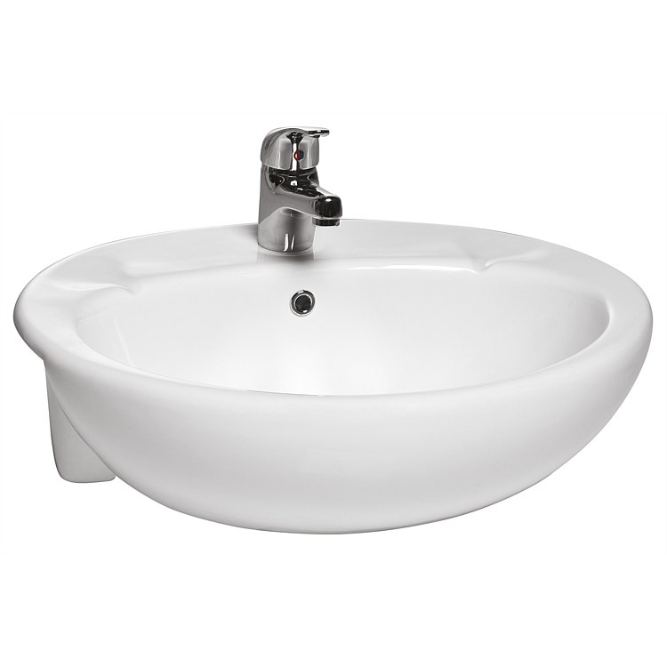 Toto Sintra Round 550mm Semi-Recessed Basin
