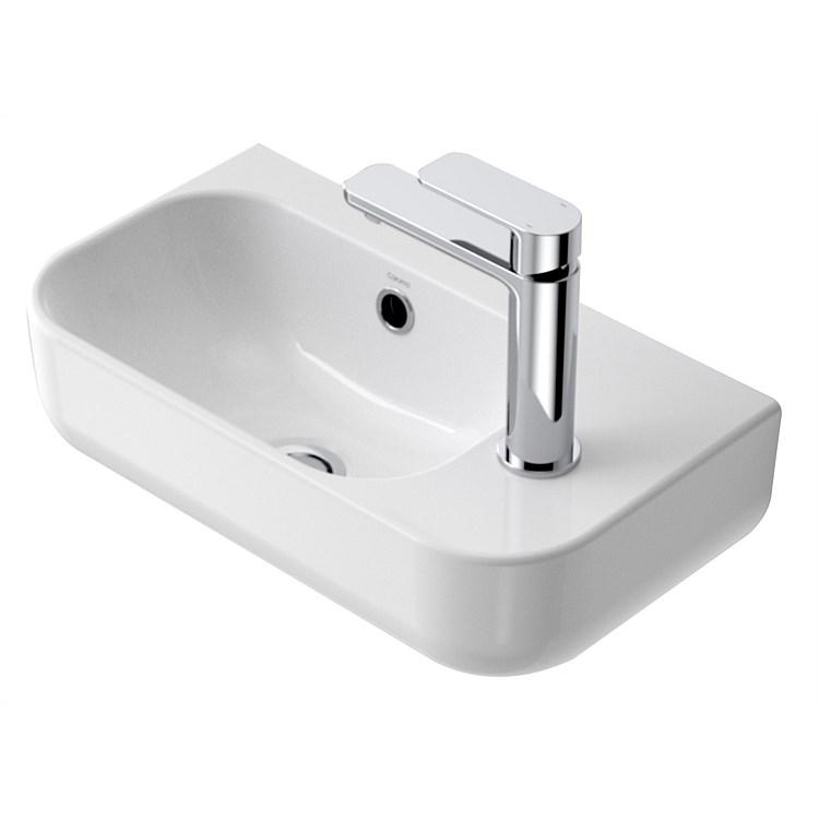 Basins Plumbing World Caroma Luna 450mm Handwash Basin