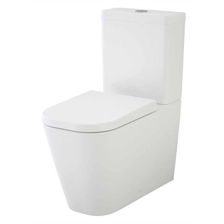 Caroma Luna Square Cleanflush® Wall Faced Toilet Suite
