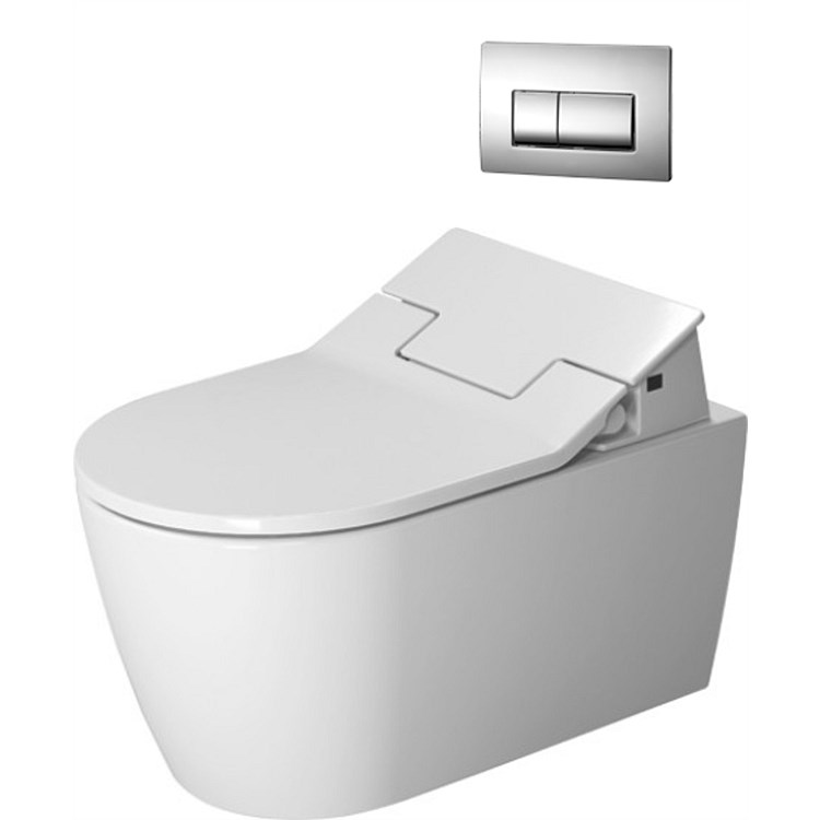 Duravit ME by Starck Wall-Hung Toilet Suite with SensoWash® Slim Seat