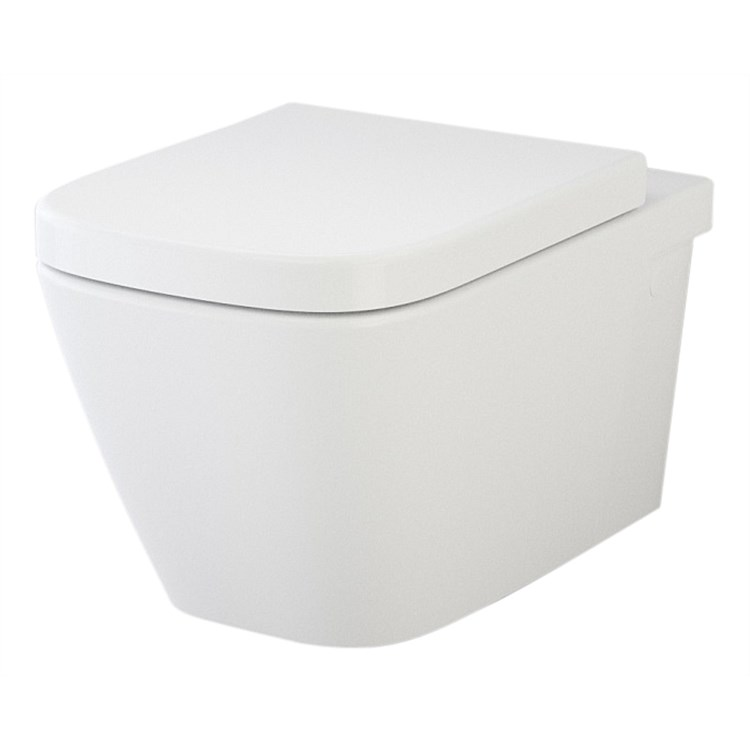 Caroma Cube Invisi II Smartflush Wall-Hung Toilet Suite