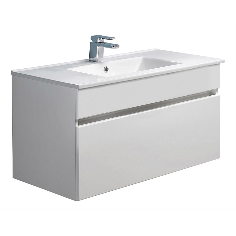 Clearlite Pinnacle 900mm 1 Drawer Vanity