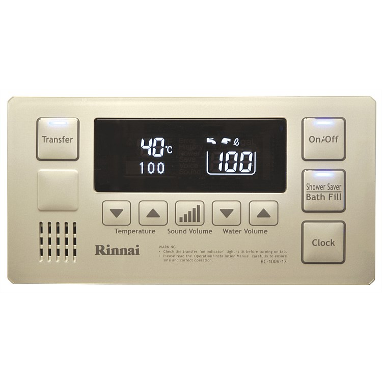 Rinnai Infinity® Bathroom Deluxe Controller