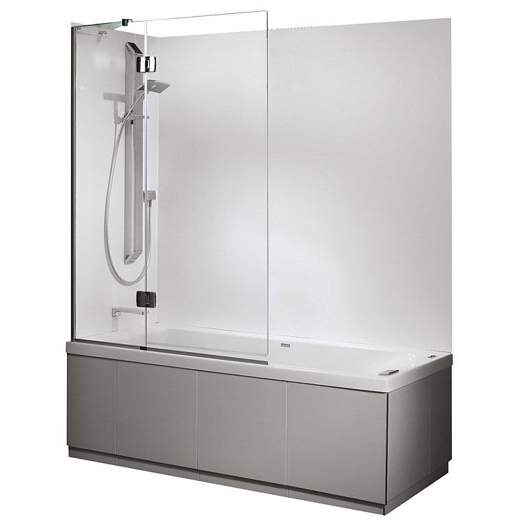 Athena Solace 1675mm 2 Wall Shower Over Bath And Swing Panel