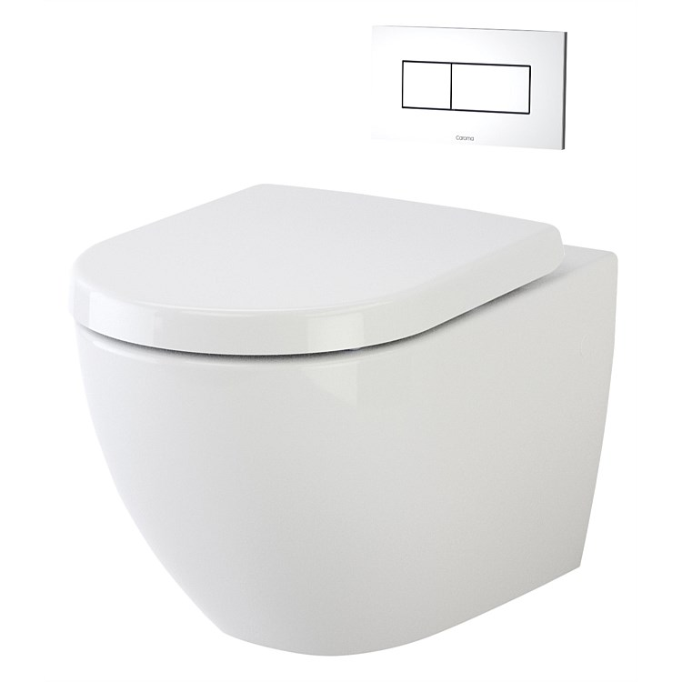 Caroma Urbane Invisi Wall-Hung Toilet Suite