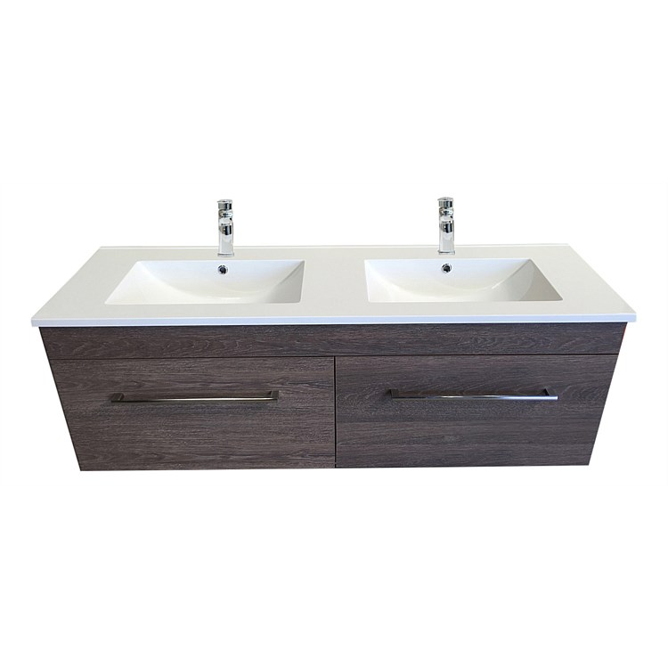 Clearlite Cashmere 1500mm D/Bowl 4 Draw Vanity