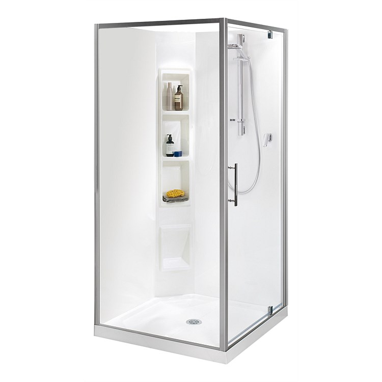 Clearlite Millennium 900mm 2 Sided Square Shower Enclosure