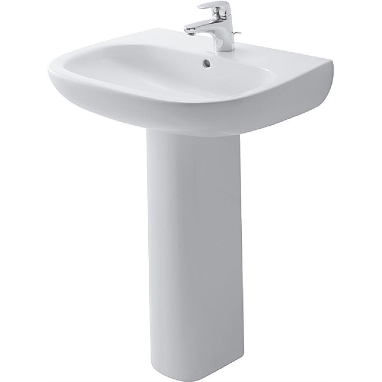 Duravit D-Code 600mm Basin and Pedestal