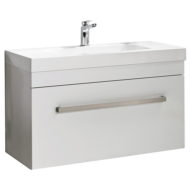Vanities And Storage Athena Cara Soltero 900mm Wall Hung