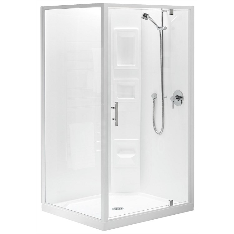 Acrylic Clearlite Induro 900mm 2 Sided Square Shower