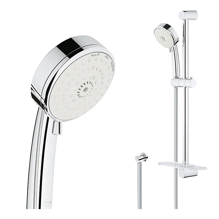 Grohe Tempesta Cosmo 3F Slide Shower With Universal Wall Elbow