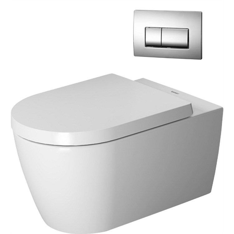 Duravit ME by Starck Rimless Wall-Hung Toilet Suite