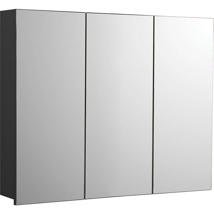 LeVivi Capri 900mm Mirror Cabinet Black