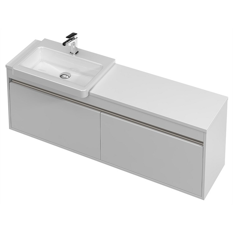 St Michel City Semi Recessed 1400mm Wall-Hung Vanity