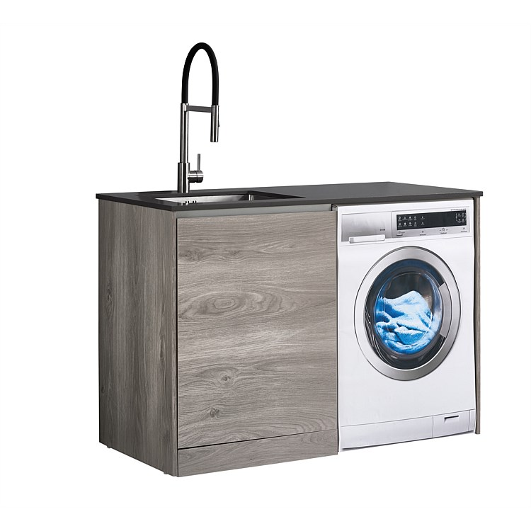 LeVivi Laundry Station 1300mm LH Door Charcoal Top Elm Cabinet